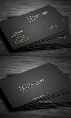 Luxurious Gold Business Card