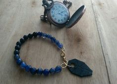 Pulseras agatha blue.
