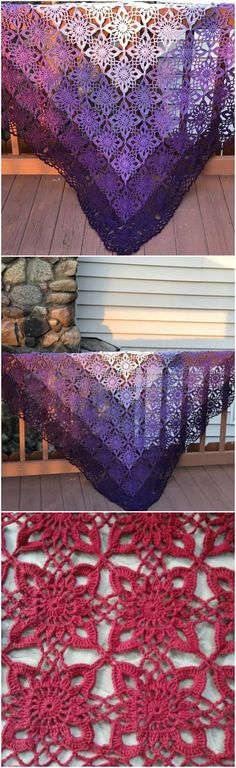 Gypsy Queen Shawl – Craft Ideas Knitted Shawls, Crochet Scarves, Crochet Clothes, Shawl Patterns, Knitting Patterns, Crochet Patterns, Crochet Motif, Crochet Shawl, Crochet Crafts
