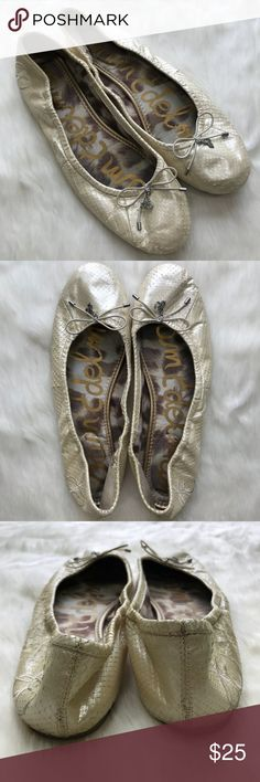 Sam Edelman Felicia Ballet Flats Size 9 Condition - great with some wear/soil at the toe areas *See last photo* Fair offers welcomed! Sam Edelman Shoes Flats & Loafers
