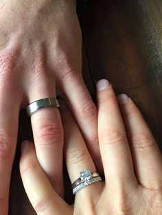 Show me your solitaire engagement ring w/ wedding band! Tiffany Solitaire, Tiffany Wedding Rings, Black Diamond Engagement, Solitaire Engagement, Solitaire Rings, Engagement Rings Couple, Vintage Engagement Rings, Rose Gold Diamond Ring, Diamond Wedding Bands