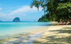 Traumhafter Strand auf einer kleinen Insel in der Andamanensee Bangkok, Strand, Thailand, Beach, Water, Outdoor, Small Island, Paradise, Gripe Water