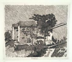 Giorgio Morandi, 'Le tre case del campiaro a Grizzana', 1929 Italian Painters, Italian Artist, Landscape Prints, Vincent Van Gogh, Art Reproductions, Printmaking, Photo Wall Art, Art Projects, Original Artwork