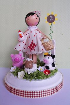 but with dogs cats elephants ...farm themed cake toppermade to order by tinyblossoms on Etsy, $55.00