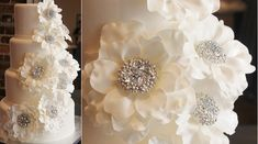 jewelled sugar flowers by Flower & Flour.com