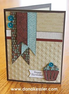 April SOTM Typed Note birthday card masculine Jackson #ctmh #scraptabulousdesigns #cricutexplore