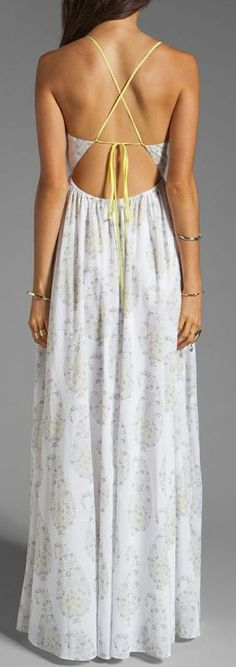 Beautiful light print summer maxi dress