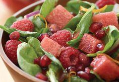 Watermelon Pomegranate Toss Salad Recipe
