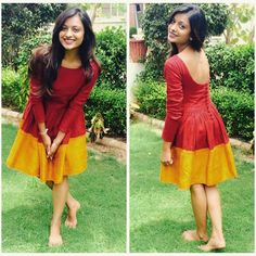 #happycustomer Kajol is oh-so-pretty in her Maduari Ombre Saree Dress ♥ We're in love with how good she makes us look!  #mogra #mogradesigns #sari #saree #liberatethesaree #madeinindia #indiadesign #indianfashion #etsy #handcrafted #indiancrafts