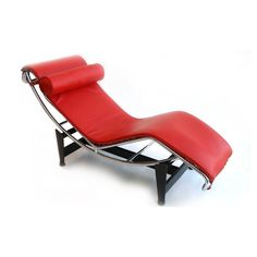 Chaiselongue Mod. le Corbusier in pelle rossa.    €499,00