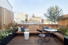 toit terrasse avec coin salon moderne design bois #exterior #garden