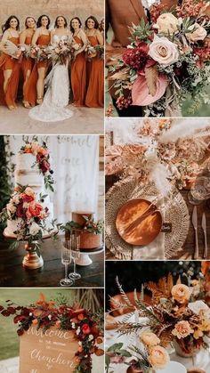 Fall Wedding Centerpieces, Fall Wedding Bouquets, Fall Wedding Colors, Diy Wedding Decorations, Wedding Color Schemes, Wedding Themes, Our Wedding, Dream Wedding, Autumn Wedding Flowers