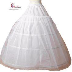 O Envio gratuito de Mulheres Venda Petticoat 3 Hoop vestido de Baile Óssea Completa Crinolina Saia Casamento Saia Acessórios Do Casamento Underskirt