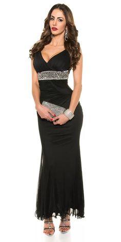Dlouhé večerní šaty Formal Dresses, Black, Fashion, Dresses For Formal, Moda, Black People, Fashion Styles, Fasion, Gowns