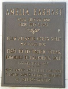 Amelia Earhart - Wikipedia, the free encyclopedia