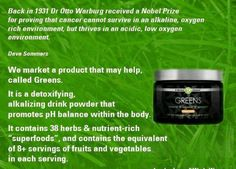 Have you eaten your serving of 8 fruits and veggies today? With Greens you won't ever have to worry. Visit https://kerryrowell.myitworks.com to order!