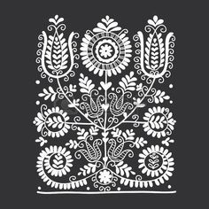 Folk Embroidery Patterns Illustration of Floral folk ornament, vector illustration vector art, clipart and stock vectors. Image - - Millions of Creative Stock Photos, Vectors, Videos and Music Files For Your Inspiration and Projects. Hungarian Embroidery, Folk Embroidery, Paper Embroidery, Learn Embroidery, Embroidery Stitches, Hungarian Tattoo, Indian Embroidery, Bordado Popular, Embroidery Designs