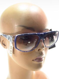df027bbc4cbe Vintage New Old Stock M. Mannequin Blue Gray Marbled Sunglasses - France  NWT