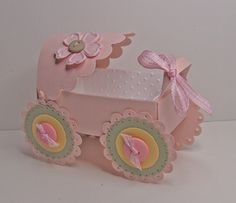 DIY Baby Carriage Favor Container. No photos but instructions are there.