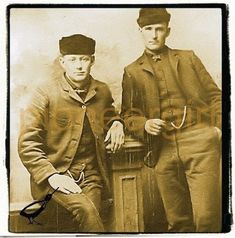 On left of image, Laura's cousin Peter Ingalls and ?