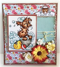 *NEW Bath Dog [C1219] - $8.50 : Whimsy Stamps