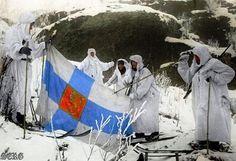 Scouts. Karelia 1944. trophy Finnish flag