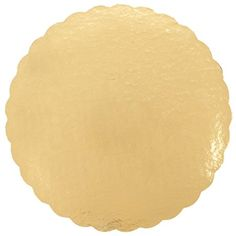 Enjay Round Gold Mono-Portion Pastry Board 5 25 Pieces