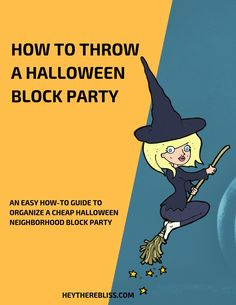 How to throw a budget friendly Halloween Neighborhood Block Party - Hey There Bliss Cheap Halloween, Halloween Books, Halloween Food For Party, Holidays Halloween, Halloween Kids, Halloween Crafts, Halloween Costumes, Holiday Themes, Holiday Fun