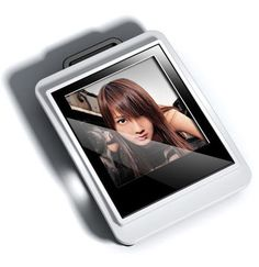 Digital Photo Frame - 1.44-inch CSTN Screen - Built-in Rechargeable Battery Keychain