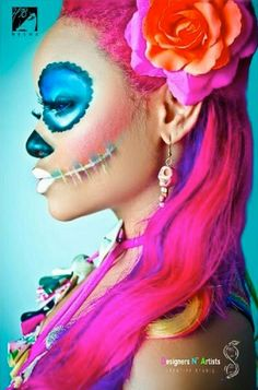 Colorful Day of the Dead Skeleton