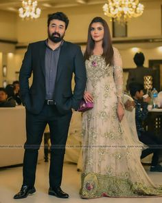 Famous Celebrities Spotted at a Recent Wedding Event in Karachi Eid Dresses, Bridal Dresses, Formal Dresses, Formal Wear, Fashion Dresses, Pakistani Couture, Pakistani Bridal Wear, Nida Yasir, Pakistan Fashion Week