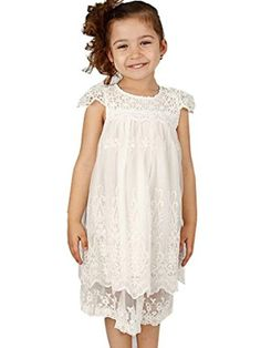 Vintage lace flower girl dress perfectly for wedding,party and other special occasion.