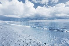 Blue Sea with Dramatic Clouds - Fototapeter & Tapeter - Photowall