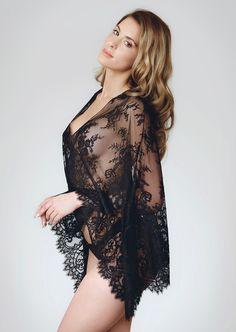 93a70d2850f Amoralle Lace Bolero in black now available at Pleasurements Pretty  Lingerie