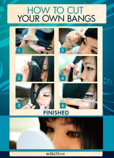 How to Cut Your Own Bangs: 12 steps