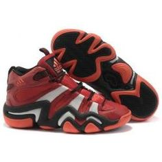 Adidas Crazy 8 Bull Basketball Shoes in red and white/black | 3K-Store