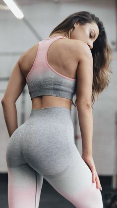 Krissy Cela styles the Ombre Seamless collection, coming soon in three gorgeous options. Workout Attire, Workout Wear, Workout Outfits, Athletic Swimwear, Athletic Wear, Gym Swag, Track Workout, Fitness Fashion, Women's Fashion