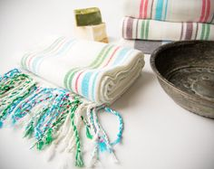 Authentic Turkish Towel for bath and beach by Orientina on Etsy, $24.00
