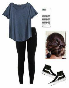Vans Outfit Mädchen, High Top Vans Outfit, Black Vans Outfit, Black Leggings Outfit, Cute Outfits With Leggings, How To Wear Leggings, Cute Teen Outfits, Cute Outfits For School, Teen Fashion Outfits