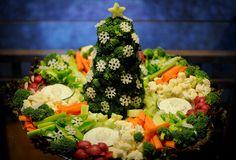 Christmas Tree Veggie Tray - Beautiful!
