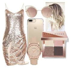 """""""Saturday Made To Shine"""" by casualbandgirl ❤ liked on Polyvore featuring Speck, Burberry, Bobbi Brown Cosmetics, MANGO, Steve Madden, DateNight, outfit and shine"""