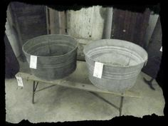I would love to have some old wash tubs for a diy project.