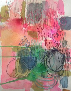 Textile Art 39758409197890526 - Letting Go: An Exploration of Abstract Painting {registration has just opened} – Jeanne Oliver Source by catshort Kunst Inspo, Art Inspo, Abstract Embroidery, Embroidery Art, Art And Illustration, Abstract Drawings, Abstract Art, Abstract Paintings, Portrait Paintings