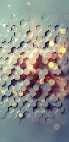 3D Hexagon Background for Samsung Galaxy Note 8 Wallpaper