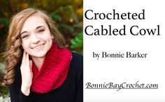 Free video tutorial to Cascade Yarn's Crocheted Cable Cowl by Bonnie Barker.