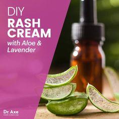 DIY Rash Cream with Aloe & Lavender - Dr. Axe