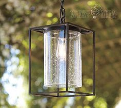 Westmenlights New Vintage Cube Pendent Ceiling Light Wrought Iron Glass Lamp Shade Kitchen