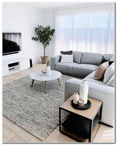 59 Small Living Room Decorating Ideas Enlarge Your Room With Decorating Techniques Minimalist Living Room DECORATING Enlarge Ideas Living Room Small Techniques Living Room Color Schemes, Minimalist Living Room, Living Room Decor Cozy, Small Living Room Decor, Home Room Design, Living Room Designs, Living Room Sets Furniture, Apartment Decor, Small Apartment Living
