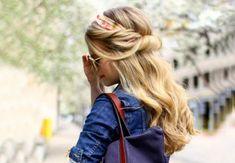 Le bandeau large d Eva Mend s - 20 id es coiffure r aliser avec un foulard - Wide Headband, Grunge Hair, Shoulder Length Hair, Wedding Makeup, Hair Lengths, Ponytail, Your Hair, Hair Makeup, Hair Cuts