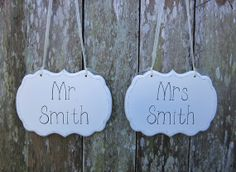 Wedding Signs / Painted Cottage Chic Personalized by kimgilbert3, $39.00